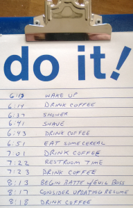 mundane to do list