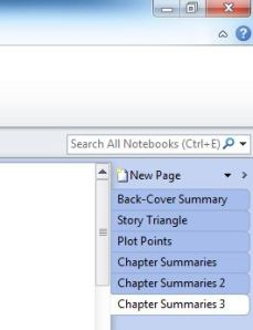 MS OneNote Pages Example