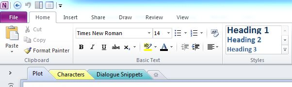 how to make seperate page sections in word